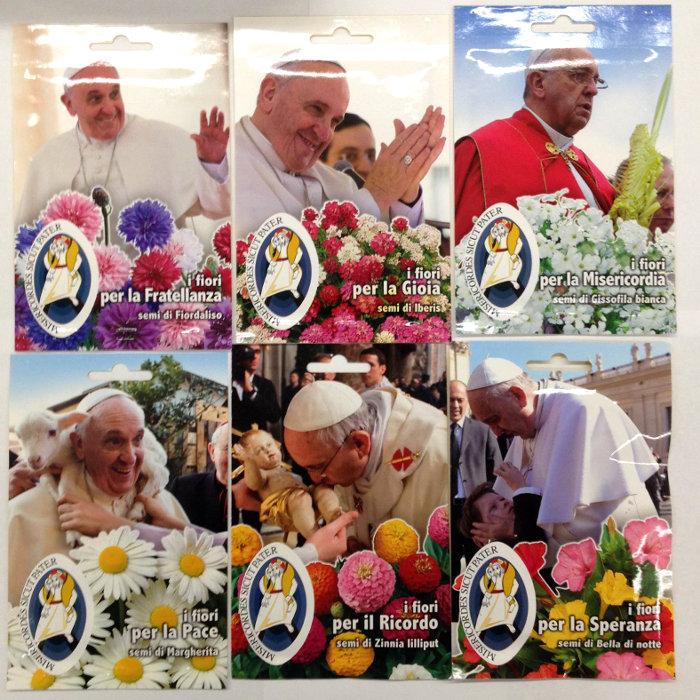 Varie a stock busta con semi di fiori di papa francesco for Vendita semi fiori