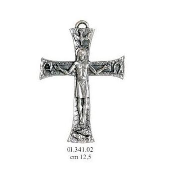Croce argentata stilizzata cm 12,5