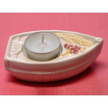 Barchetta Comunione Ceramica con Lumino