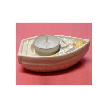 Barchetta Cresima Ceramica con Lumino