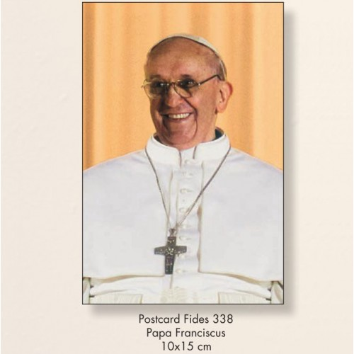 10 Cartoline Papa Francesco 10x15
