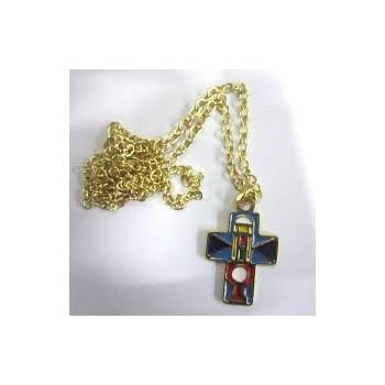 Croce smaltata tipo Perù 3,5cm
