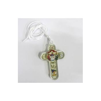 Croce Eucarestia in Plexiglass Trasparente 8cm
