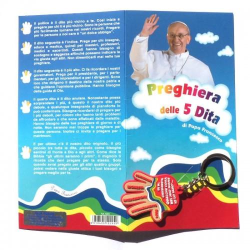 Portachiavi con Preghiera 5 Dita Papa Francesco