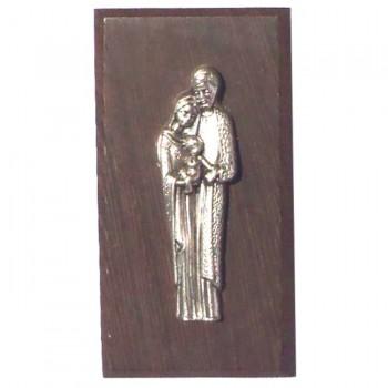 Quadretto appoggio/appendibile in legno wengè Sacra Famiglia