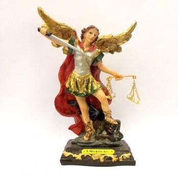 San Michele Arcangelo Statua in Resina h. 15 cm