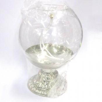 Lampada da Altare in Vetro con Base color Argento