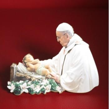 Papa Francesco con Gesù Bambino