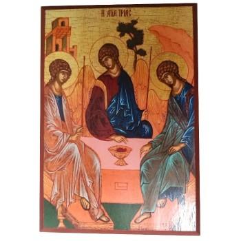 Icona in Legno, Trinità di Rublev 17cm