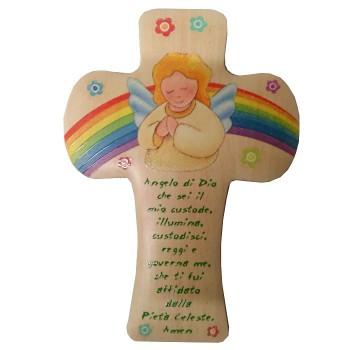 Croce con Angelo di Dio 22cm