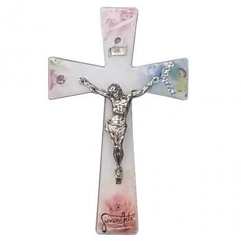 Croce Vetro con Cristo e INRI