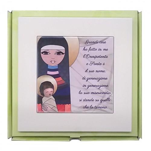 Quadretto Madonna con Bambino e Preghiera