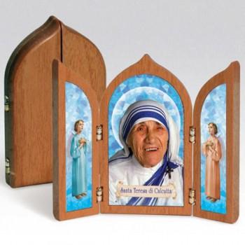 Trittico Santa Madre Teresa di Calcutta con Angeli da € 3,50