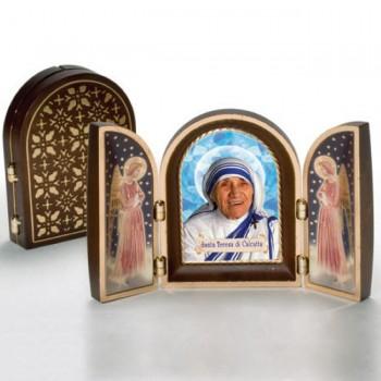 Trittico Santa Madre Teresa di Calcutta con Angeli da € 5,00