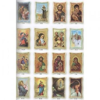 Tavoletta Grande Icone Maria e Sante 25x15 cm da € 8,90