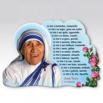 Quadretto Sagomato con Immagine Madre Teresa da € 2,00