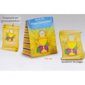 Cofanetto Pergamena con Quadretto - Prima Comunione