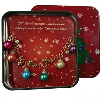 Box Metallo Natale con Braccialetto