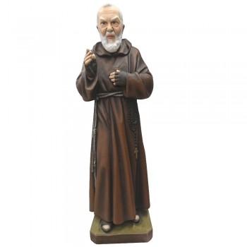 Statua Padre Pio 60cm in fibra di vetro