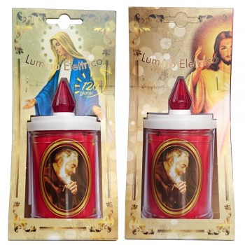 Lumino Elettrico Padre Pio 7x14 in Blister