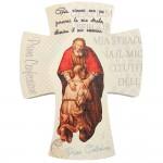 Croce Prima Confessione in Legno Naturale 12cm