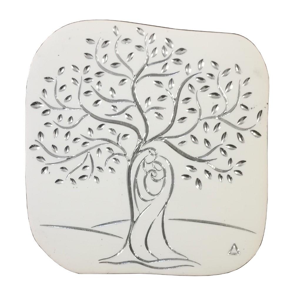 Disegno Stencil Albero Della Vita.Quadretto Albero Della Vita Bianco Alla Fonte Arte Sacra Articoli Religiosi Online