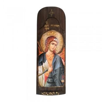 Icona Pala San Michele Arcangelo 40x14cm