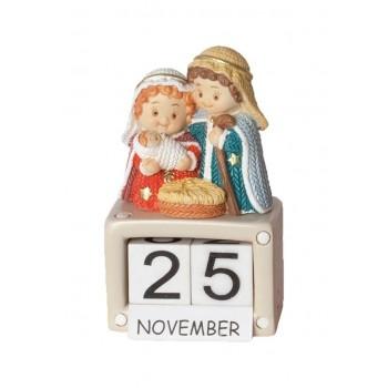 Blocchetto Natività calendario 7 cm