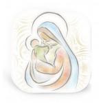 Quadretto colorato Madonna col Bambino