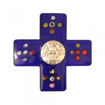 Croce Vetro di Murano per Prima Comunione