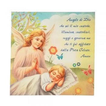 Quadretto preghiera Angelo di Dio