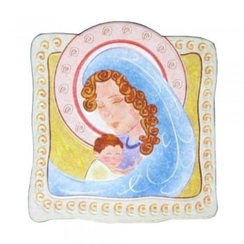 Quadretto Madonna con Bambino 10x10cm