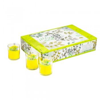 Bicchiere Vetro Citronella Vegetale Impatto Zero