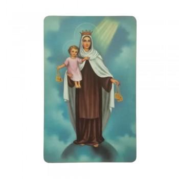 Santino Madonna Carmelo con Preghiera