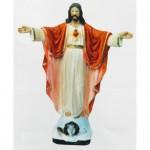 Statua Sacro Cuore di Gesù braccia aperte