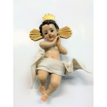 Gesu Bambino aureola 18 cm