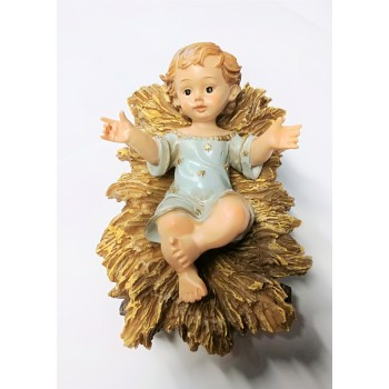 Gesu' Bambino con culla 16 cm