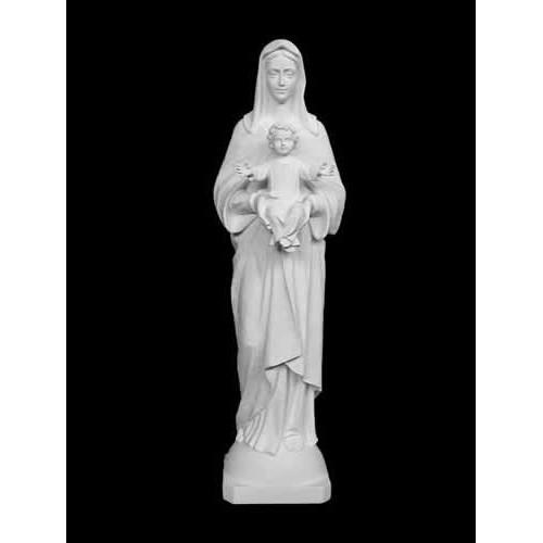 Statua Madonna con bambino 80 cm Bianca