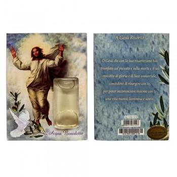 Blister Gesù Risorto con acqua