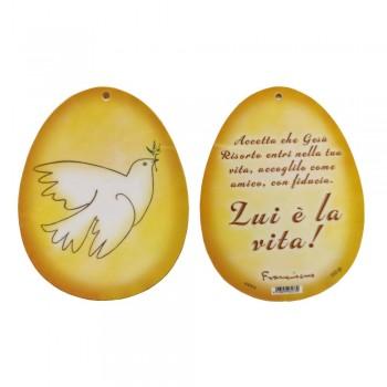 Soggetto a forma uovo con Colomba