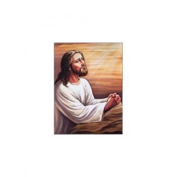 Quadro Legno in legno a rilievo Gesù Orante 50x70
