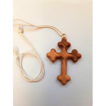 Croce trilobata legno di ulivo