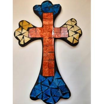 Croce vetrini mosaicata multicolor