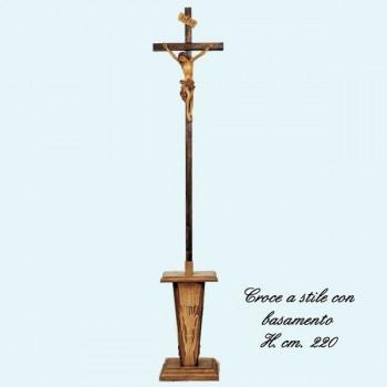 Croce astile con basamento 220cm