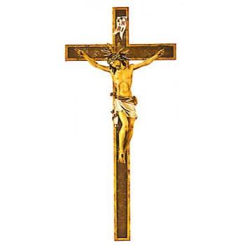 Cristo Pisa su croce (legno)