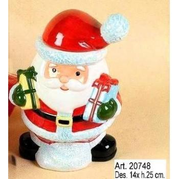 Babbo Natale salvadanaio cm.25