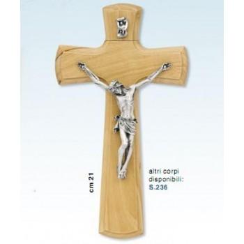 Croce in legno ulivo cm.21