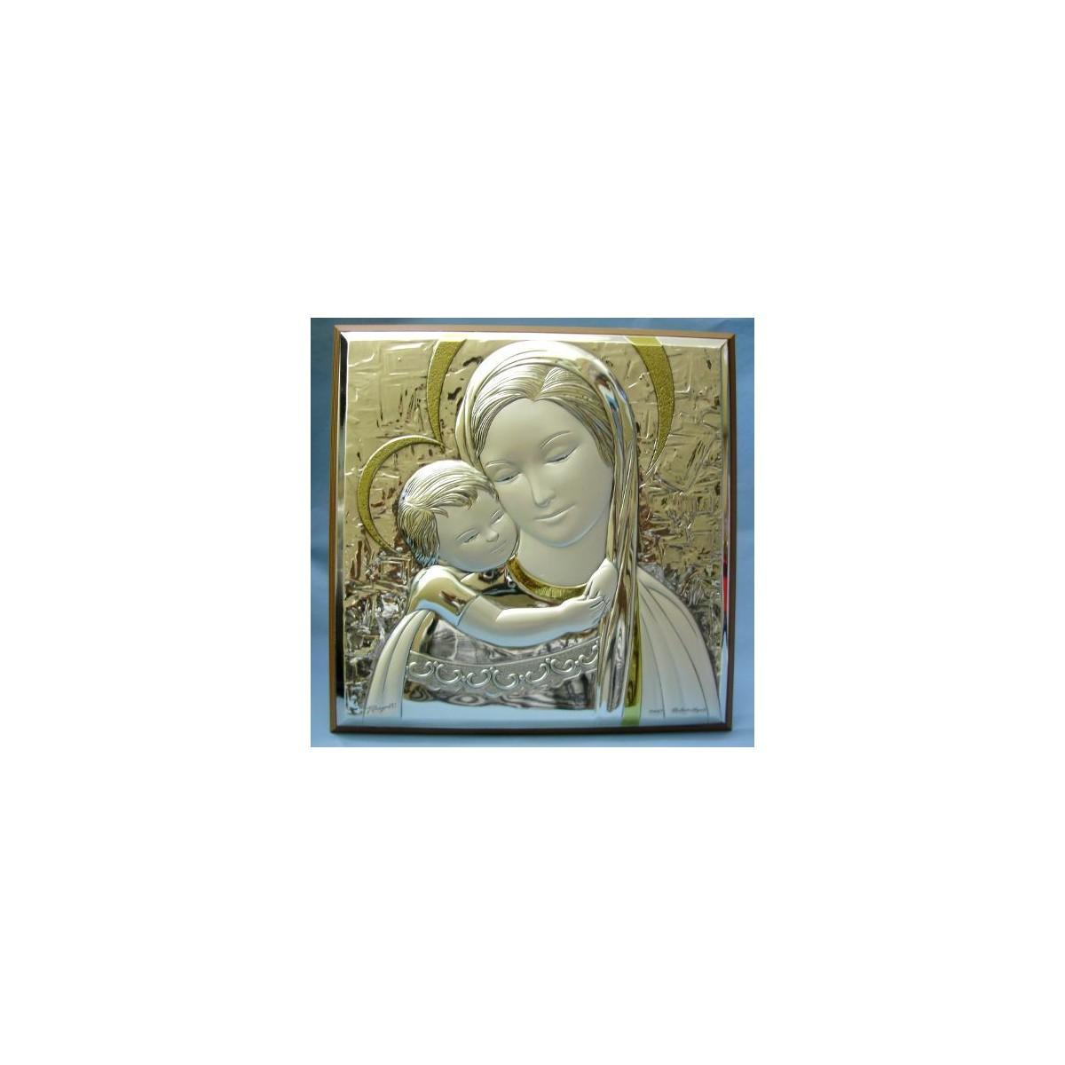 Quadro argento Madonna con Bambino - Alla Fonte Arte Sacra ...