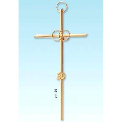 Croce fedi e numero 50 per anniversario 20 cm