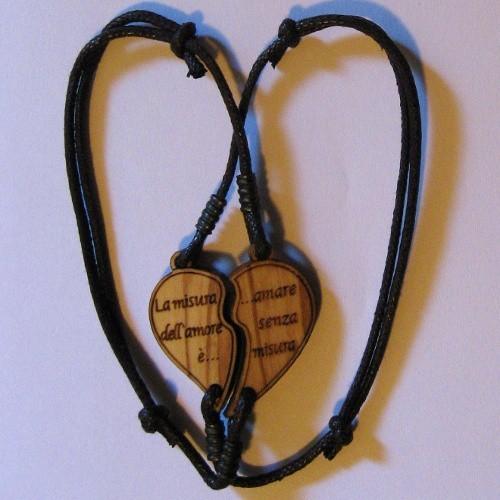 Braccialetto doppio cuore